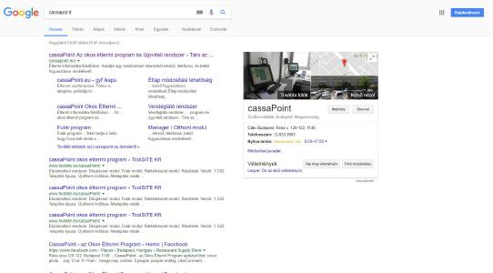 cassaPoint Google Profil