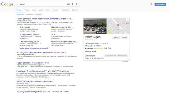 PizzaGigant Google Profil